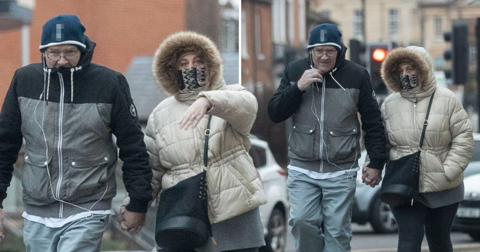 Convicted paedophile Paul Saunders on a Valentines Day walk with fiance and 'Britain's worst mother' Karen Matthews