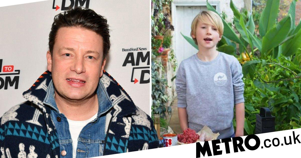 Jamie Oliver's son Buddy whips up bolognese in sweet cooking masterclass