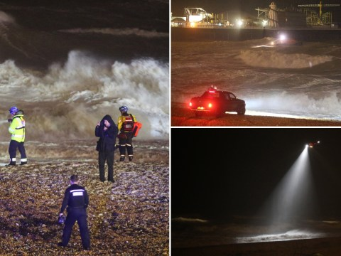 Huge search for woman swept out to sea during Storm Dennis