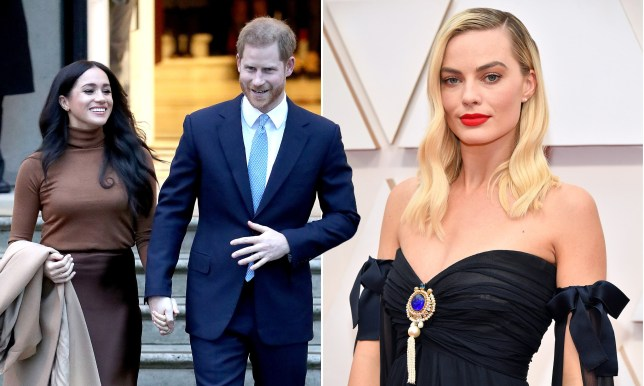 Prince Harry, Meghan Markle and Margot Robbie