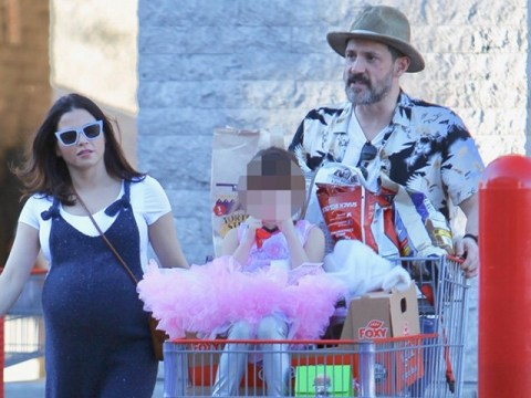 Pregnant Jenna Dewan loving life as she goes shopping with Steve Kazee and daughter Everly