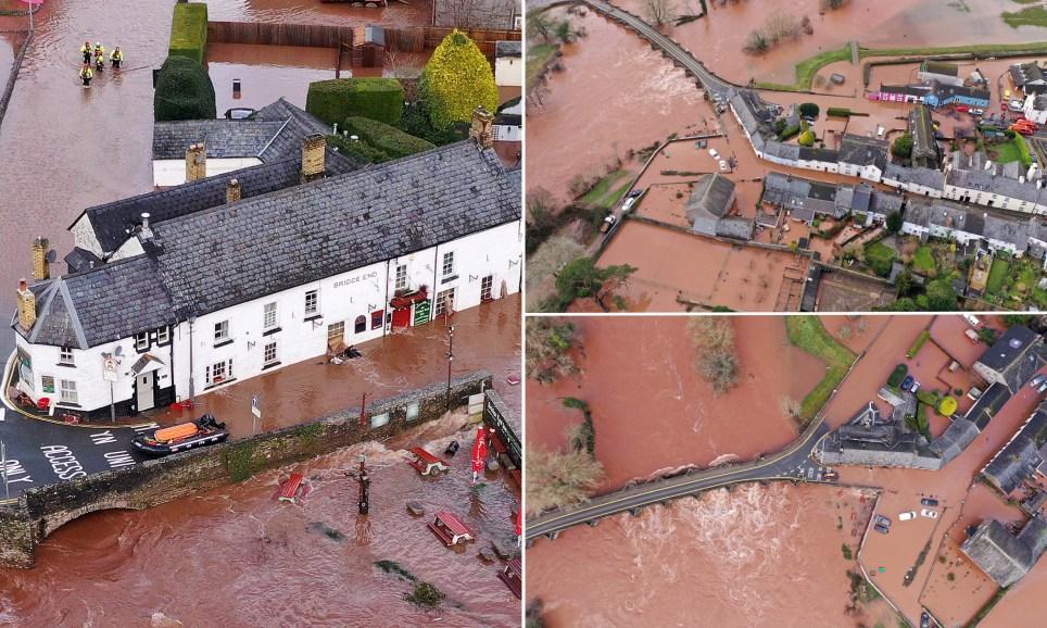 storm dennis crickhowell drone flooding