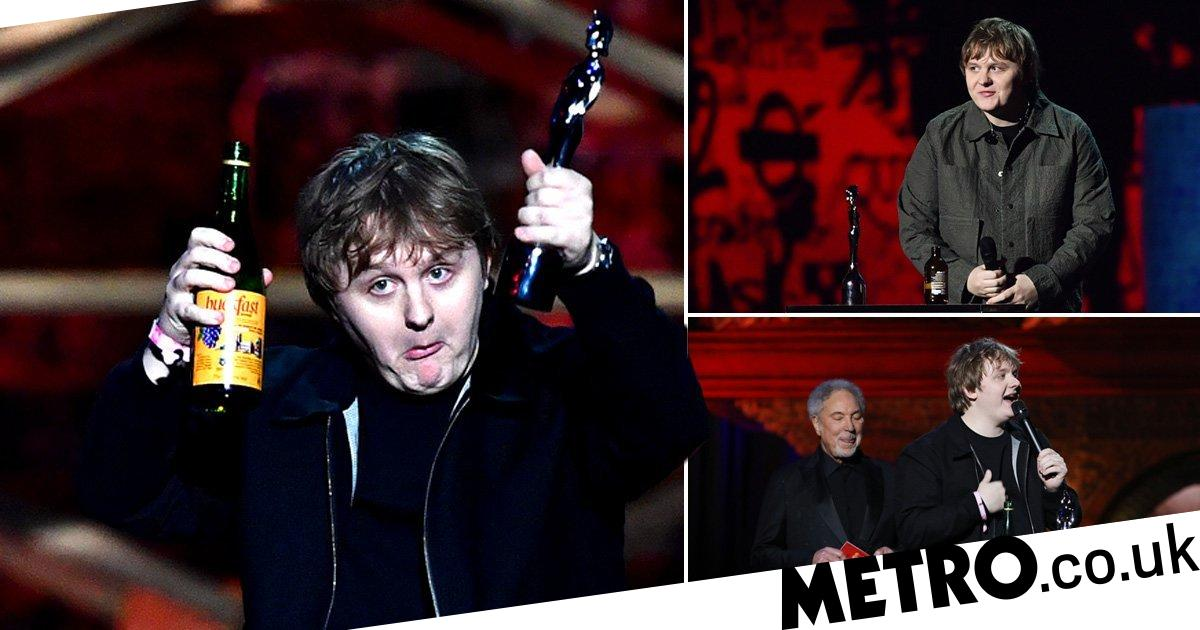 Lewis Capaldi comes for those calling him out for having a drink at the Brits
