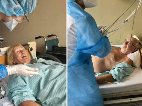 David and Sally Abel share photos from hospital after leaving coronavirus ship