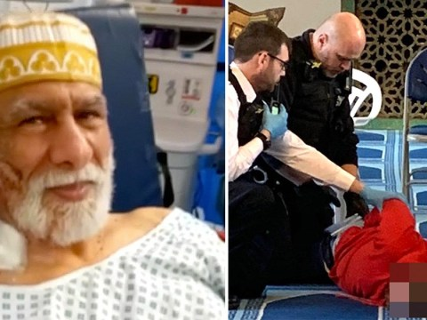 Man, 69, stabbed in London mosque while carrying out call to prayer pictured