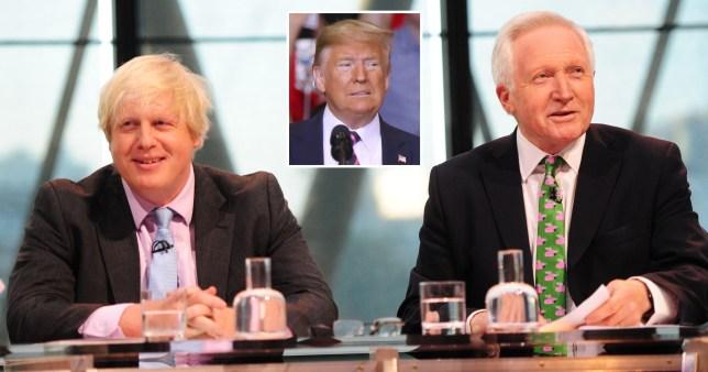 Boris Johnson, Donald Trump, David Dimbleby