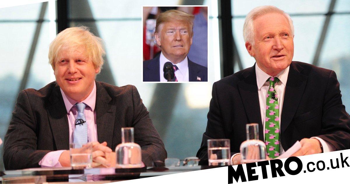 BBC's David Dimbleby attacks 'liar' Boris Johnson who is 'apeing Donald Trump'