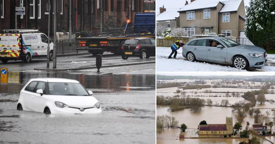 More rain is hammering down on flood-hit communities this weekend