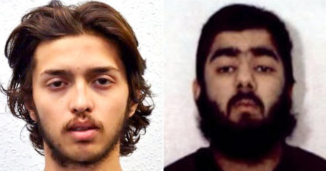 Convicted terrorists Sudesh Amman (L) and Usman Khan (R) both launched attacks after being freed from prison early (Picture: PA)