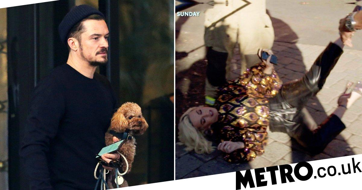 Orlando Bloom strolls through Milan with his dog amid Katy Perry's collapse