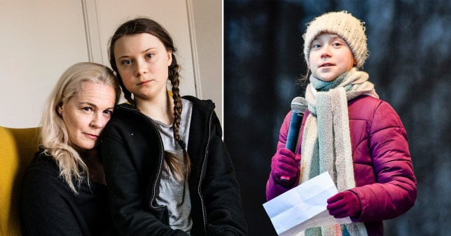 Caption: Greta Thunberg\'s mother reveals how the climate activist \'stopped talking and eating\' aged 11 Pictures: EPA/PA