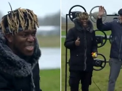 KSI makes Top Gear debut to smash footballs at Paddy McGuinness in the Air Bag Challenge