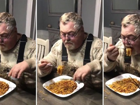 Man's bizarre way of cutting spaghetti with scissors before eating it unsettles people