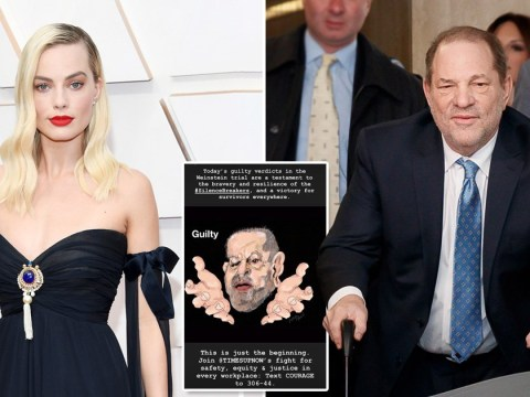 Margot Robbie celebrates 'victory' as Harvey Weinstein is found guilty in rape trial