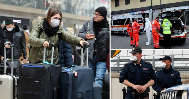 The government has advised against all but essential travel to areas of Italy on coronavirus lock-down (Picture: EPA; Backgrid; AP)