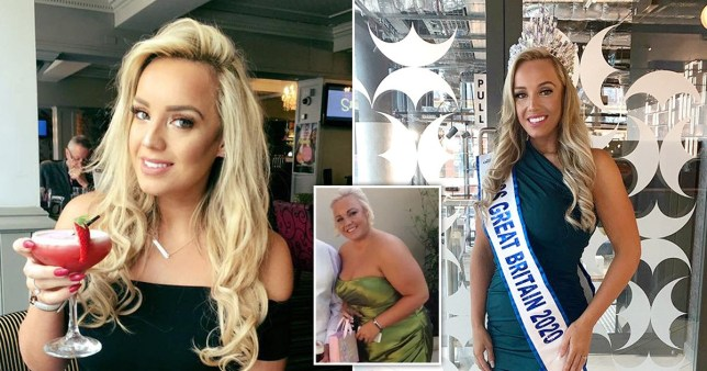 Miss Great Britain 2020 before and after her weight loss