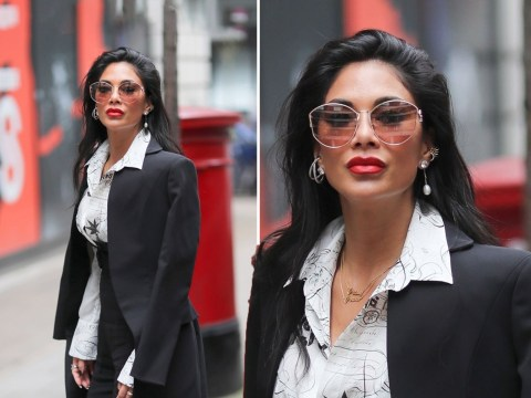 Nicole Scherzinger follows Ant and Dec's style advice as she suits up in London