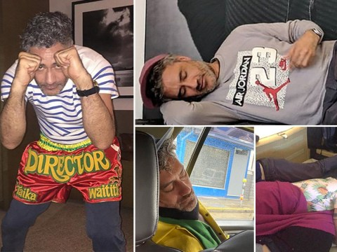 Taika Waititi's nap pictures are the internet's greatest gift as Mark Ruffalo comes through with iconic snaps