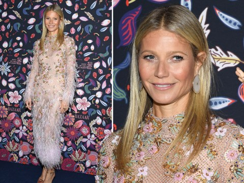 Gwyneth Paltrow ruffles feathers alongside Gigi Hadid and Dita Von Teese at the Harper's Bazaar exhibition