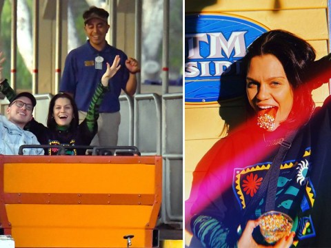 Jessie J lets loose as she takes break from busy schedule at Six Flags Magic Mountain