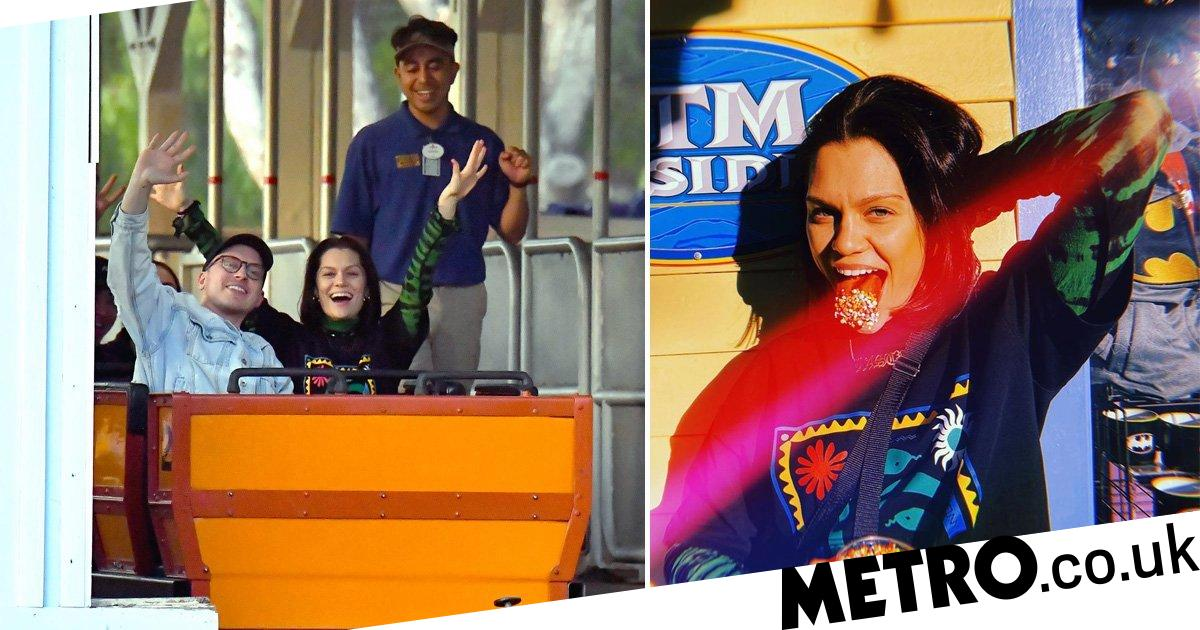Jessie J lets loose as she takes break from busy schedule at Six Flags