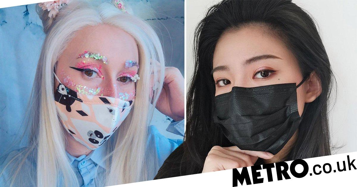 Influencers are sharing makeup looks to wear with coronavirus masks