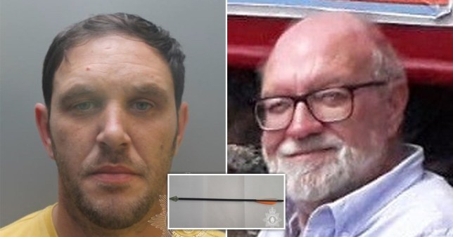 Terence Whall, 39, shot Gerald Corrigan, 74, as he adjusted a satellite dish outside his home in Anglesey, North Wales, in the early hours of Good Friday, April 19, last year.