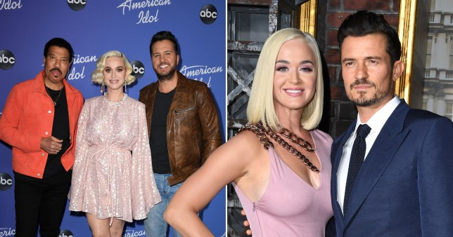 Katy Perry with Lionel Richie and Luke Bryan, Katy Perry and Orlando Bloom together