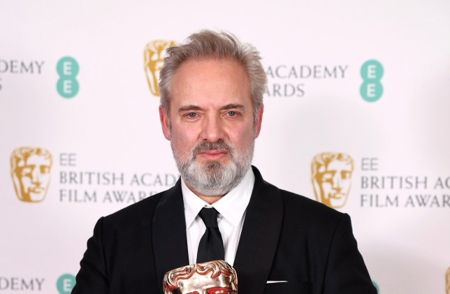 Sir Sam Mendes backstage at the 2020 Baftas