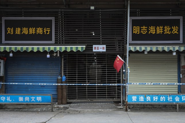 WUHAN, CHINA - JANUARY 17: (CHINA OUT) A general view of the closed Huanan Seafood Wholesale Market, which has been linked to cases of Coronavirus, on January 17, 2020 in Wuhan, China. Local authorities have confirmed that a second person in the city has died of a pneumonia-like virus since the outbreak started in December. (Photo by Getty Images)