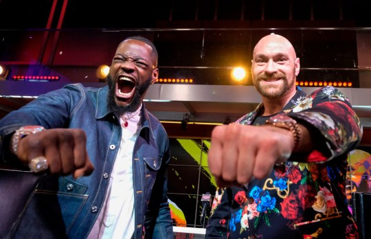 Boxers Deontay Wilder and Tyson Fury