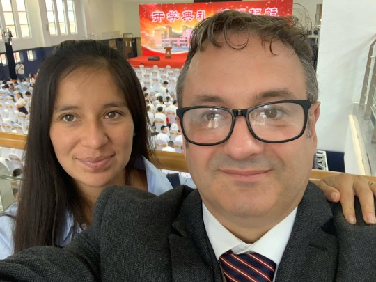 "(L-R) Diana Buelot, 27, and Steffan Atherton, 47. Brit Steffan Atherton, 47, was told he had to leave his Peruvian wife Diana Buelot, 27, to save his newborn son by a British embassy official if he wanted to be evacuated from Coronavirus-stricken China. See SWNS story SWLEchina. A terrified ex-soldier has been left stranded in Coronavirus-stricken China after being told he had to leave his wife to save his newborn son - has now made a heartfelt plea to keep his family together. Steffan Atherton, 47, was faced with the ""shameful"" decision to abandon his Peruvian wife Diana Buelot, 27, in China and bring his two-month-old son Danny home safely to the UK. The dad shared an emotional conversation with a British embassy official as he begged them to rescue his family from Fuzhou, China - where the family have been surviving on fast food. He was initially told that Diana would not be able to join him in the evacuations to Arrowe Park Hospital after she was denied a VISA to enter the UK - but his son, a British citizen, could."