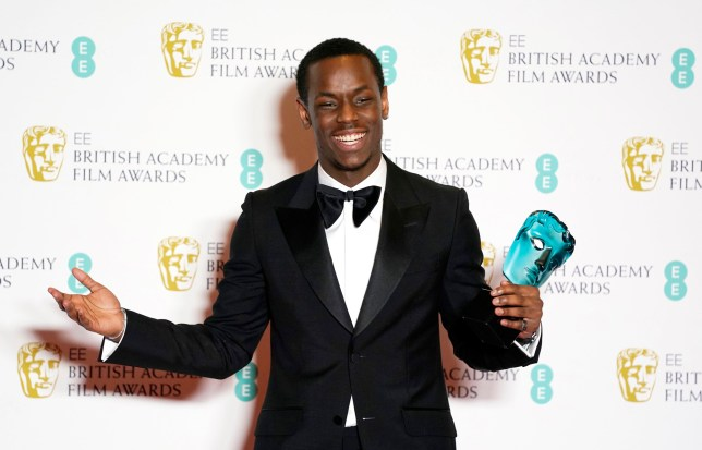 epa08189063 Michael Ward poses with his Rising Star award in the press room during the 73rd annual British Academy Film Award at the Royal Albert Hall in London, Britain, 02 February 2020. The ceremony is hosted by the British Academy of Film and Television Arts (BAFTA). EPA/WILL OLIVER *** Local Caption *** 54975578