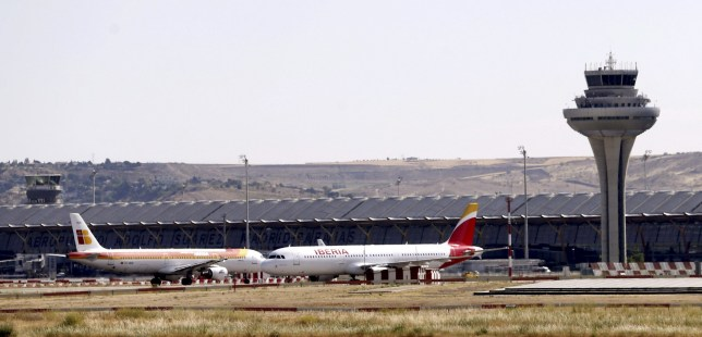 Mandatory Credit: Photo by J J Guillen/EPA/REX (8101627b) Two Planes of Spanish Iberia Airlines Stand on the the Tarmac at the T-4 Terminal of the Adolfo Suarez Madrid-barajas Airport in Madrid Spain 08 June 2015 Spanish Air Traffic Controllers Started a Four-day Long Partial Strike That is Expected to Affect Some 5 300 Flights the Enaire Airport Authority's Air Controllers Called For Partial Stoppages on 08 10 12 and 14 June Between 10am and 12pm and Between 6pm and 8pm to Protest Against Enaire's Decision of Sanctioning Some 61 Workers in Barcelona with a Suspension From Duties Without Pay For a Month For a Stoppage That Led to the Total Closure of Spanish Air Space in December 2010 Spain Madrid Spain Air Controllers Strike - Jun 2015