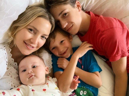 Kate Hudson and her three children
