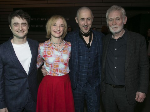 Daniel Radcliffe and Alan Cumming beam with joy after successful opening night for Endgame