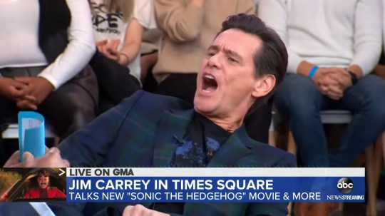 Jim Carrey appearing on Good Morning America 05.02.2020 (Picture: ABC)