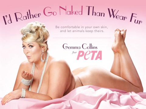 Gemma Collins declares animal rights victory as she rehashes nude shoot for PETA campaign