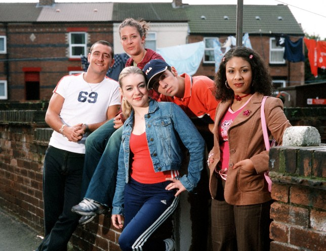 Television programme : TWO PINTS OF LAGER AND A PACKET OF CRISPS...Picture Shows: Will Mellor as Gaz, Sheridan Smith as Janet, Natalie Casey as Donna, Ralf Little as Jonny and Kathryn Drysdale as Louise TX: BBC CHOICE Monday 15th April 2002 In the new series, Jonny's and Janet's relationship is under threat when an old ex comes back on to the scene, meanwhile Gaz and Donna try to further their relationship by trying to find other things in common than sex, sex, sex. Fed up with her lack of men in her life, Louise turns to the other species for companionship which of course doesn't go to plan. Flo is still drinking for England and dishing out useless advice and snidney comments to her long suffering daughter. WARNING: This copyright image may be used only to publicise current BBC programmes or other BBC output. Any other use whatsoever without specific prior approval from the BBC may result in legal action. ...BBC CHOICE Monday 15th April 2002