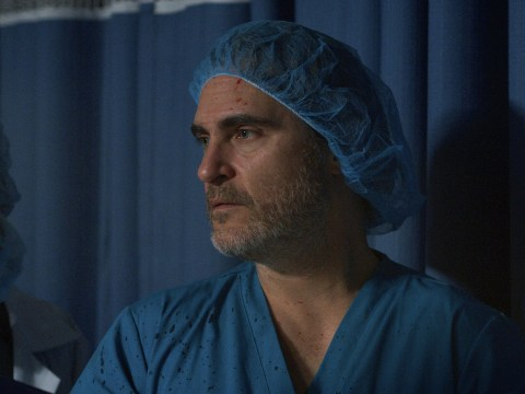 Blood-splattered Joaquin Phoenix plays surgeon in Extinction Rebellion protest video after calling out systematic racism at Baftas