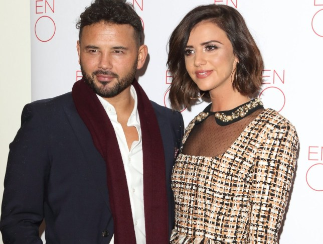 LONDON, UNITED KINGDOM - 2019/01/29: Ryan Thomas and Lucy Mecklenburgh attends the La Boheme Press Night at The Coliseum. (Photo by Keith Mayhew/SOPA Images/LightRocket via Getty Images)