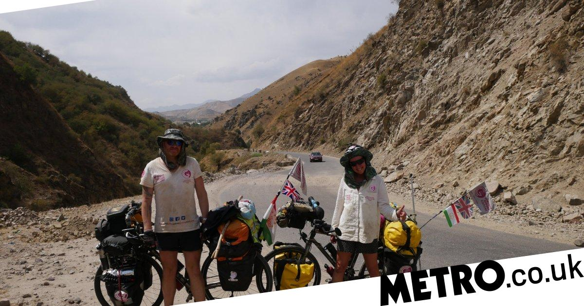 Couple cycle 12,500 miles through 25 countries to celebrate surviving cancer