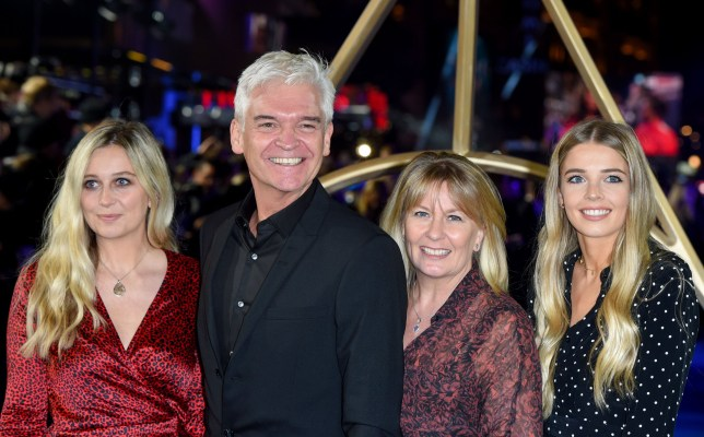 Mandatory Credit: Photo by Anthony Harvey/REX (9977347em) Phillip Schofield, Stephanie Lowe, Molly Lowe and Ruby Lowe 'Fantastic Beasts: The Crimes of Grindelwald' film premiere, London, UK - 13 Nov 2018
