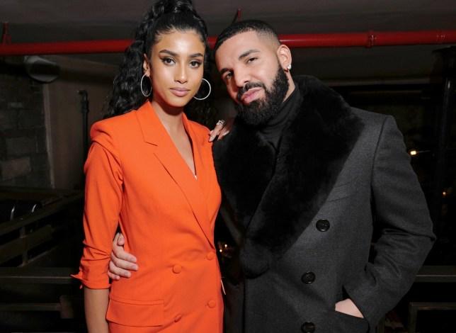 Drake and Imaan Hammam