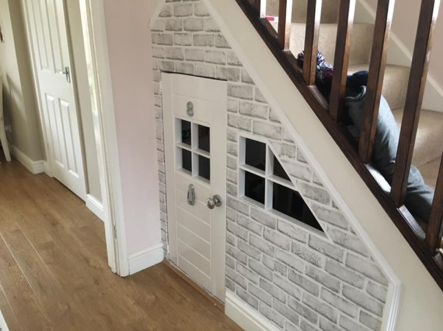 Grandad creates amazing under stairs playhouse for grandsons for just ?50