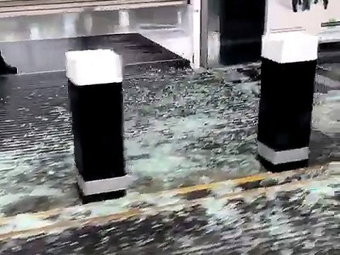 Storm Ciara winds so powerful they shattered glass at train station