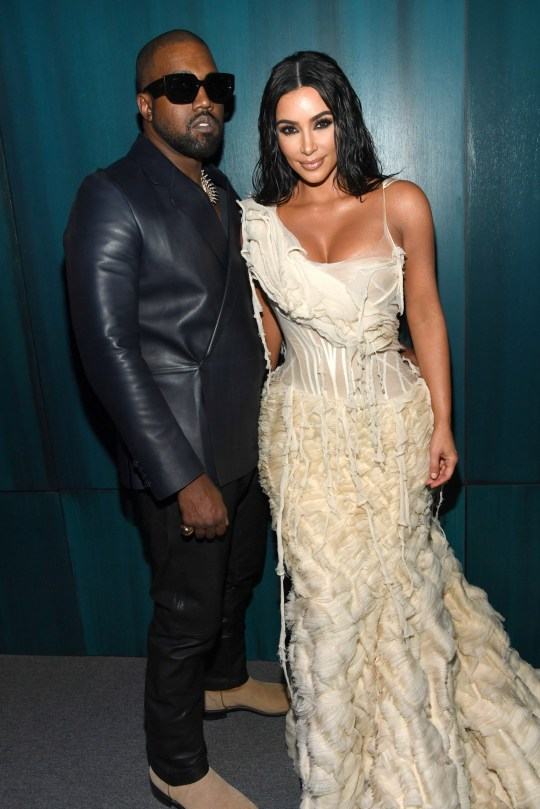 BEVERLY HILLS, CALIFORNIA - FEBRUARY 09: Kanye West and Kim Kardashian West attend the 2020 Vanity Fair Oscar Party hosted by Radhika Jones at Wallis Annenberg Center for the Performing Arts on February 09, 2020 in Beverly Hills, California. (Photo by Kevin Mazur/VF20/WireImage)