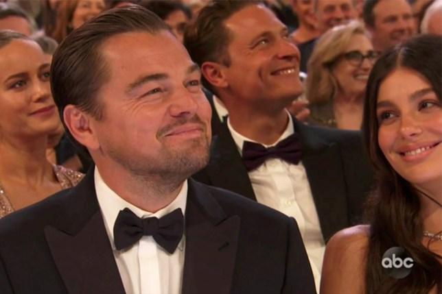 Camila Morrone and Leonardo Dicaprio at the 2020 Oscars