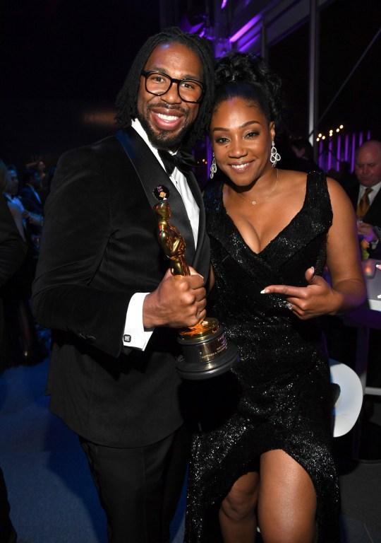 Matthew A Cherry with Tiffany Haddish at Oscars