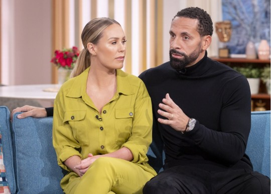Editorial use only Mandatory Credit: Photo by Ken McKay/ITV/REX (10552839ba) Rio Ferdinand and Kate Ferdinand 'This Morning' TV show, London, UK - 10 Feb 2020 KATE AND RIO FERDINAND: BECOMING A STEP FAMILY He opened up about his battle with grief, in BAFTA-award winning documentary, 'Rio Ferdinand: Being Mum and Dad'. And, three years on - Rio, along with his wife, Kate are letting the cameras in once again - this time, to highlight the ups and downs of becoming a step-family. And, ahead of its release tonight, we?re joined by Kate and Rio, as they open up about why they felt ?compelled? to tell more of their story.